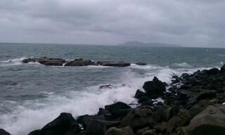 鷹島のガレ場